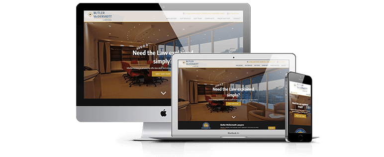 Butler McDermott Lawyers web design