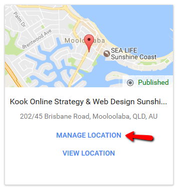 Kook's Google My Business listing