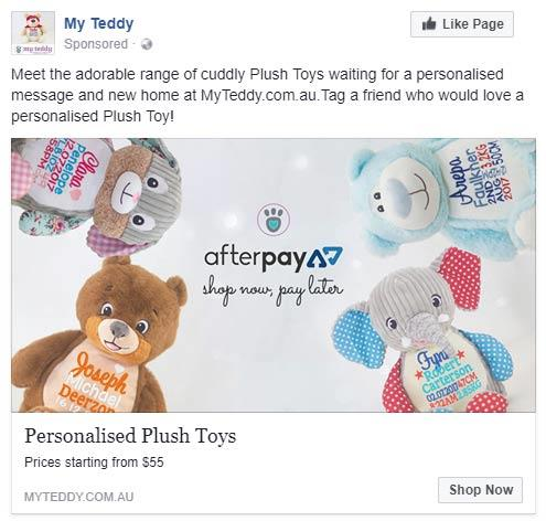 Facebook Advertising Agency for My Teddy