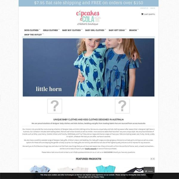 The clothing boutique's homepage prior to the PrestaShop ecommerce website makeover