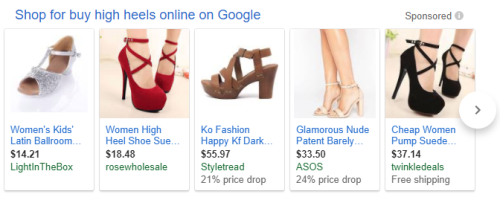 Google Shopping Results for Shoes
